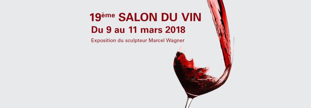 19ème SALON DU VIN  <br/>Du 9 au 11 mars 2018 au Centre de Loisirs Norbert Melcher à Steinsel.