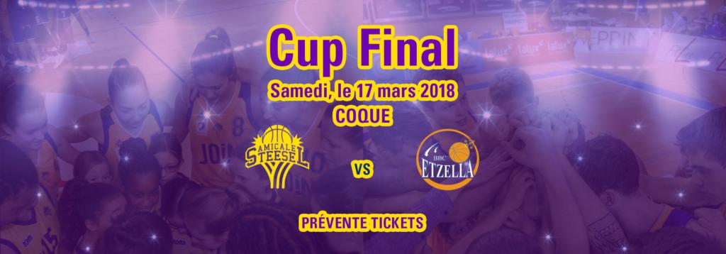 Cup Final – Prévente tickets