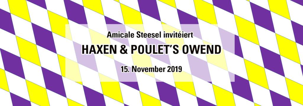 D'Amicale Steesel invitéiert op hiren Haxen & Poulet's Owend