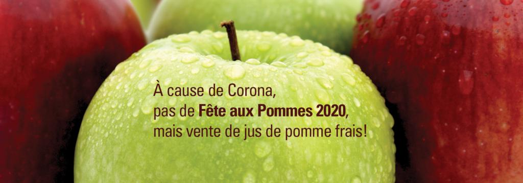 Pas de fête aux pommes à Steinsel mais vente de jus de pomme frais!