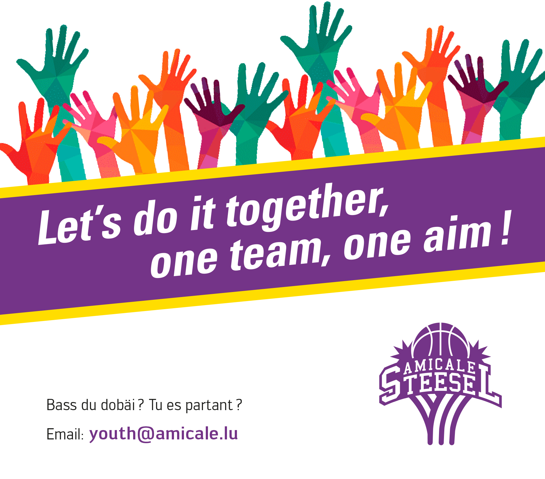 """Featured image for """"Let's do it together, one team, one aim!"""""""