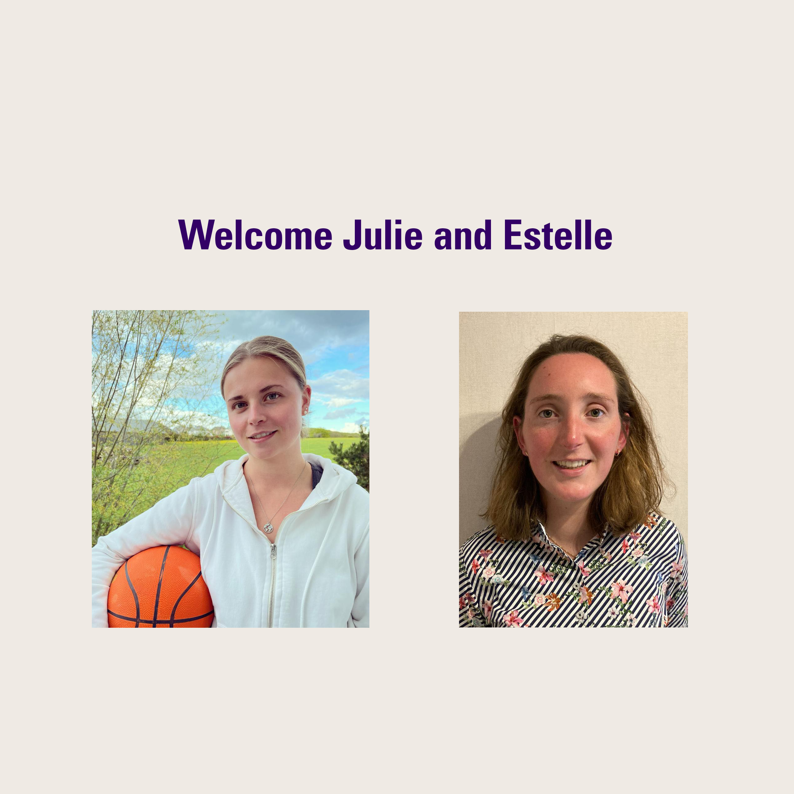 """Featured image for """"Welcome Julie and Estelle"""""""